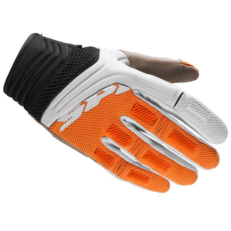 Rukavice MEGA-X, SPIDI (biele/oranžové)