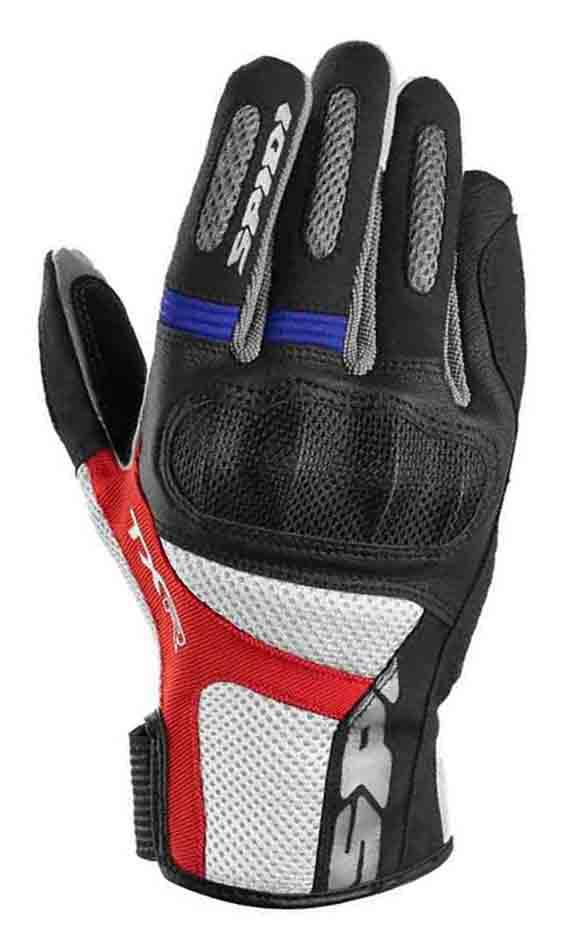 Rukavice TXR, SPIDI (čierna/modrá/červená/biela)