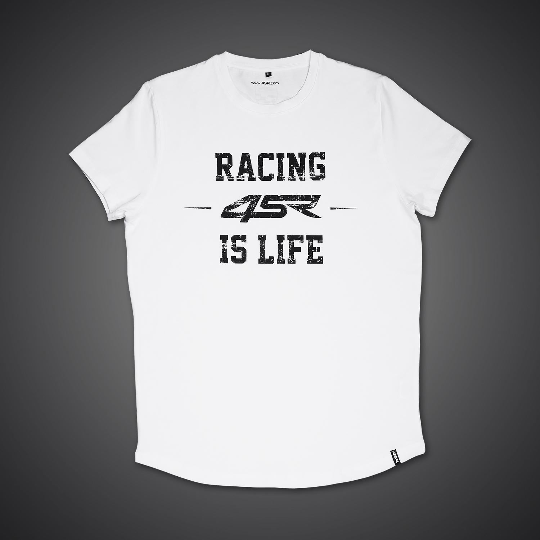 4SR Tričko Life White