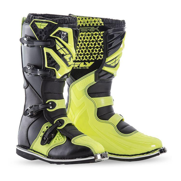 Topánky MAVERIK, FLY RACING (čierna/žltá fluo)