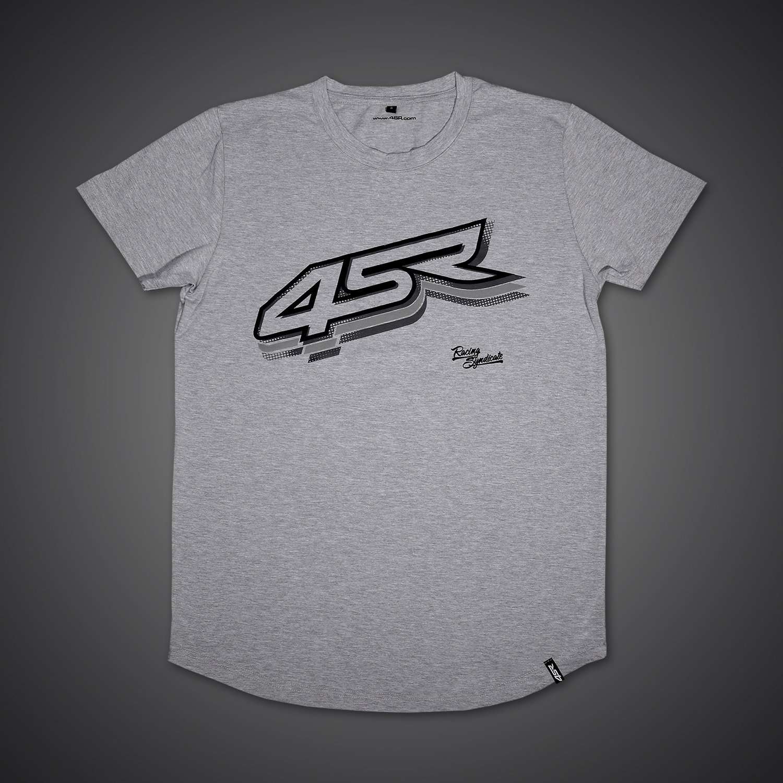 4SR Tričko Logo Grey