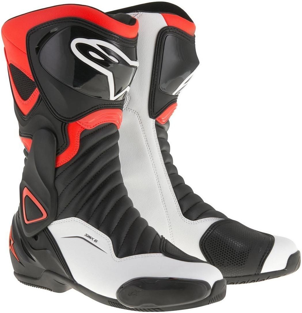 Topánky  S-MX 6 , ALPINESTARS (čierne/biele/červené)