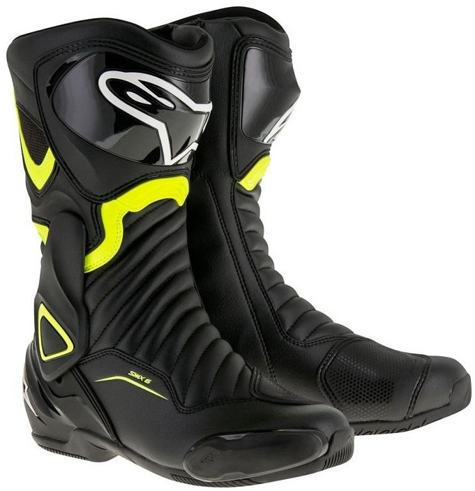 Topánky S-MX 6 , ALPINESTARS (čierna/žltá fluo)