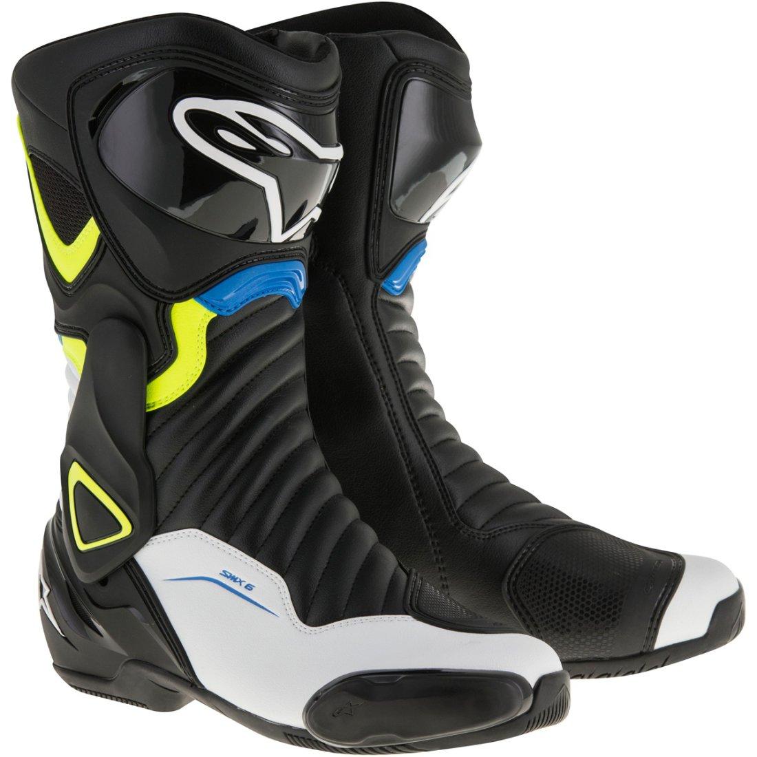 Topánky S-MX 6 , ALPINESTARS (čierne/biele/modré)