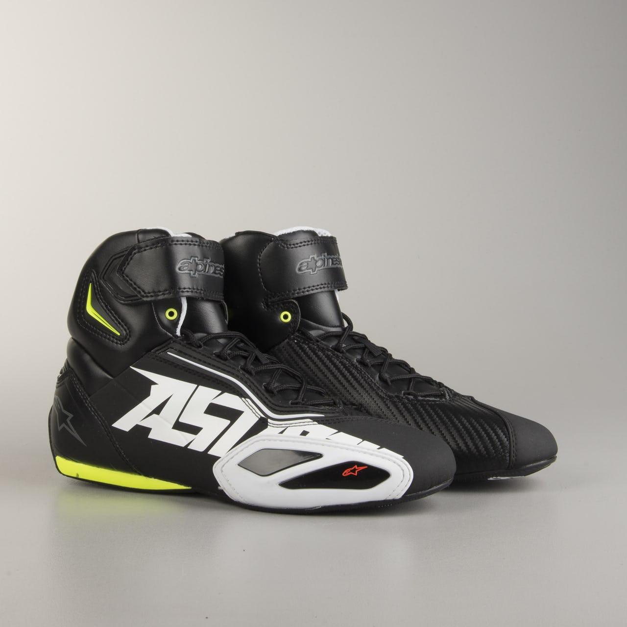 Topánky  FASTER 2, ALPINESTARS (čierne/biele/žlté fluo/červené)