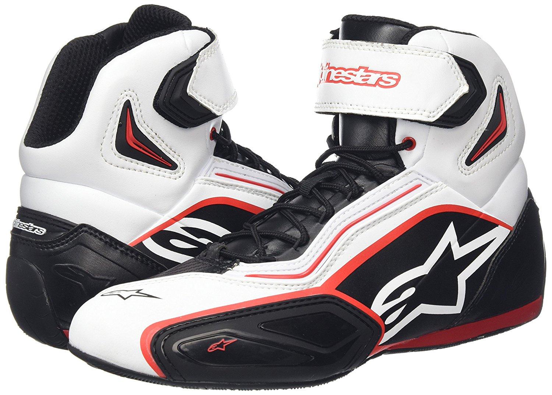 Topánky  FASTER 2, ALPINESTARS (čierne/biele/červené)