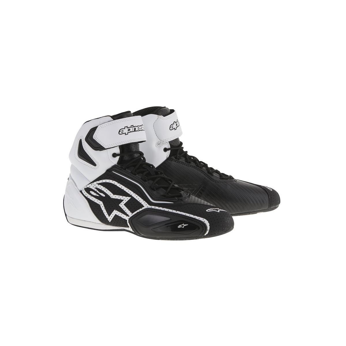 Topánky  FASTER 2 Vented, ALPINESTARS (čierne/biele/perforované prevedenie)