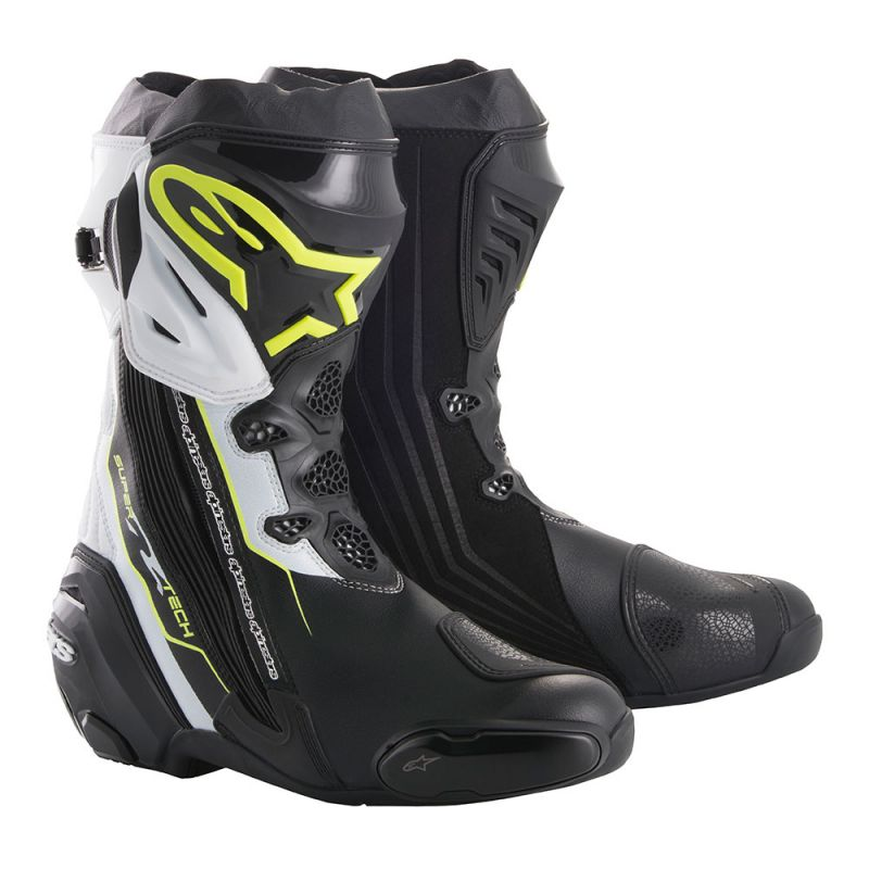 Topánky SUPERTECH R, ALPINESTARS (biela/čierna/žltá fluo)