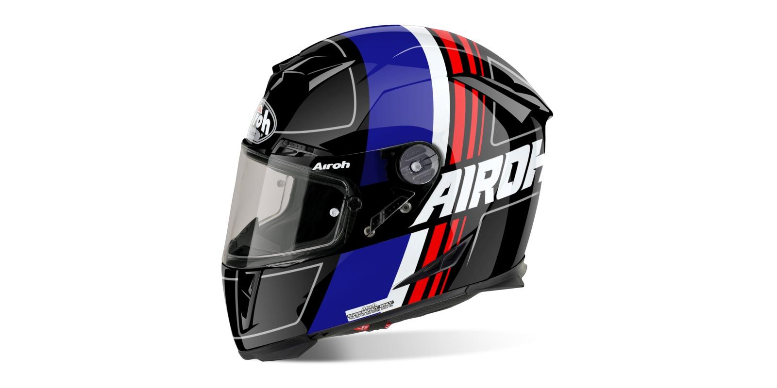 Prilba GP500 SCRAPE, AIROH (čierna/modrá/červená)