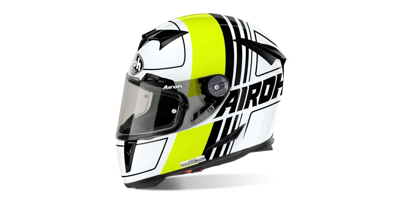 Prilba GP500 SCRAPE, AIROH (čierna/biela/žltá)
