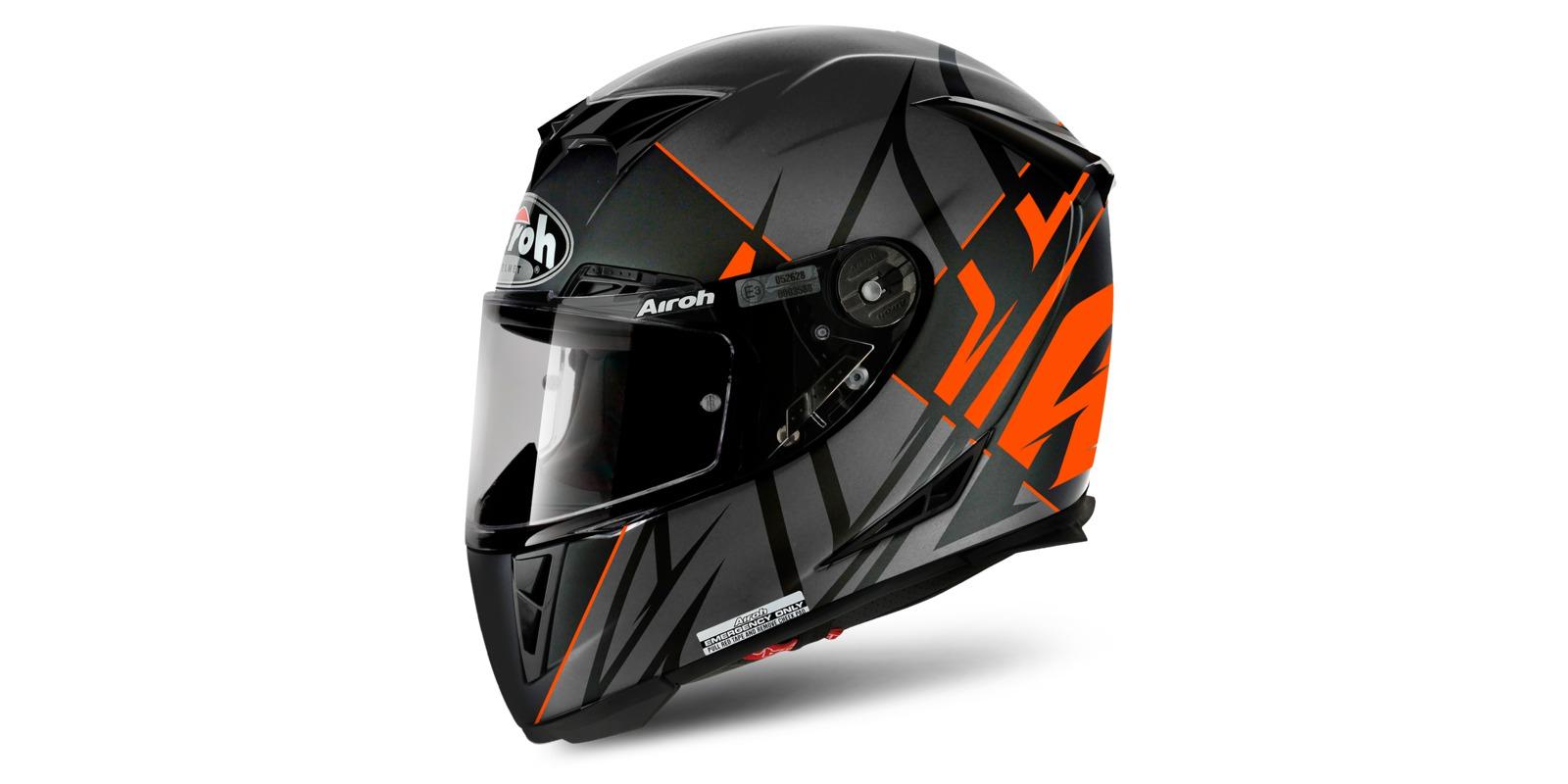 Prilba GP500 SECTORS, AIROH (čierna/oranžová)
