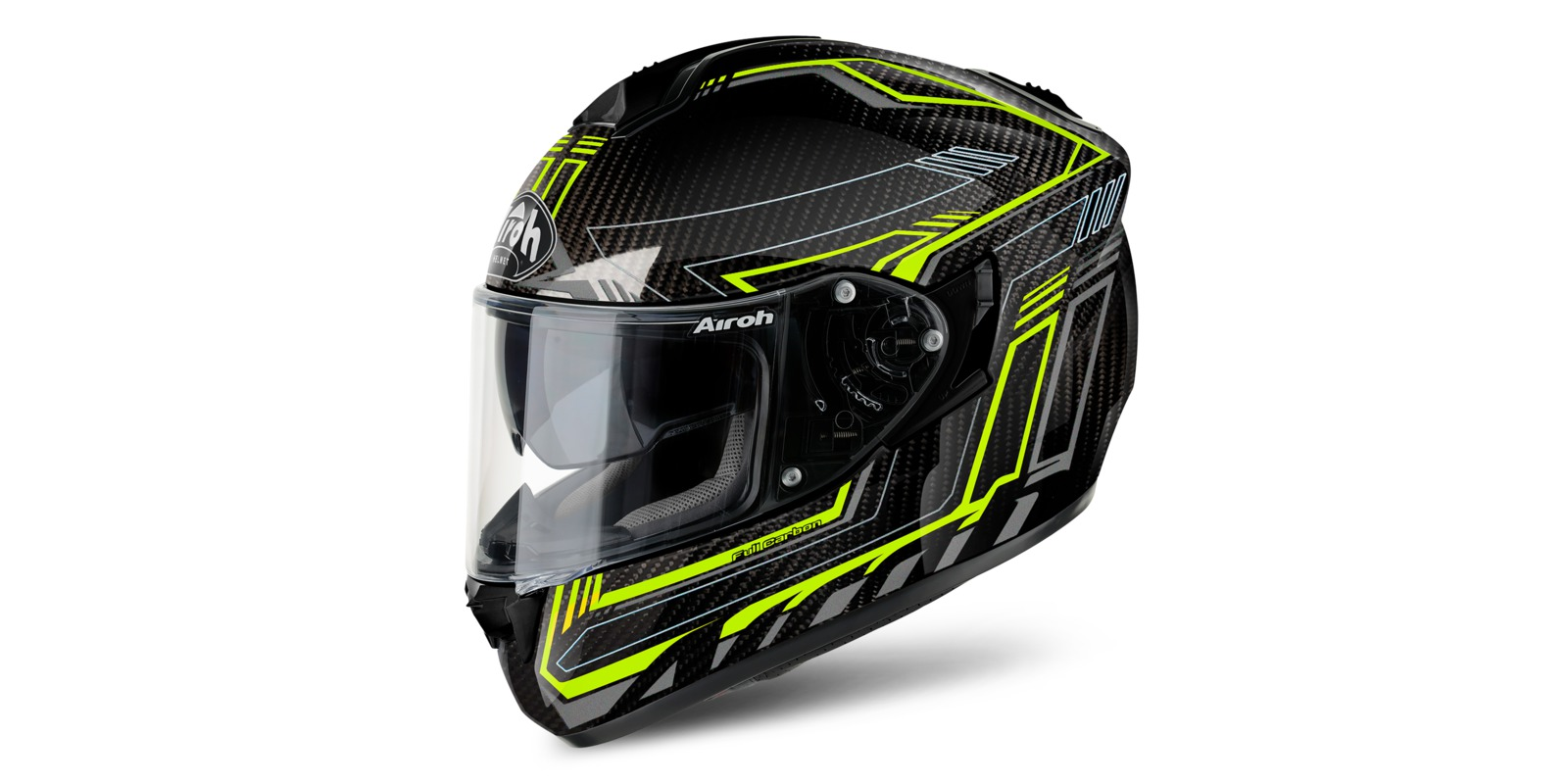 Prilba ST 701 SAFETY FULL CARBON, AIROH (carbon/žltá)