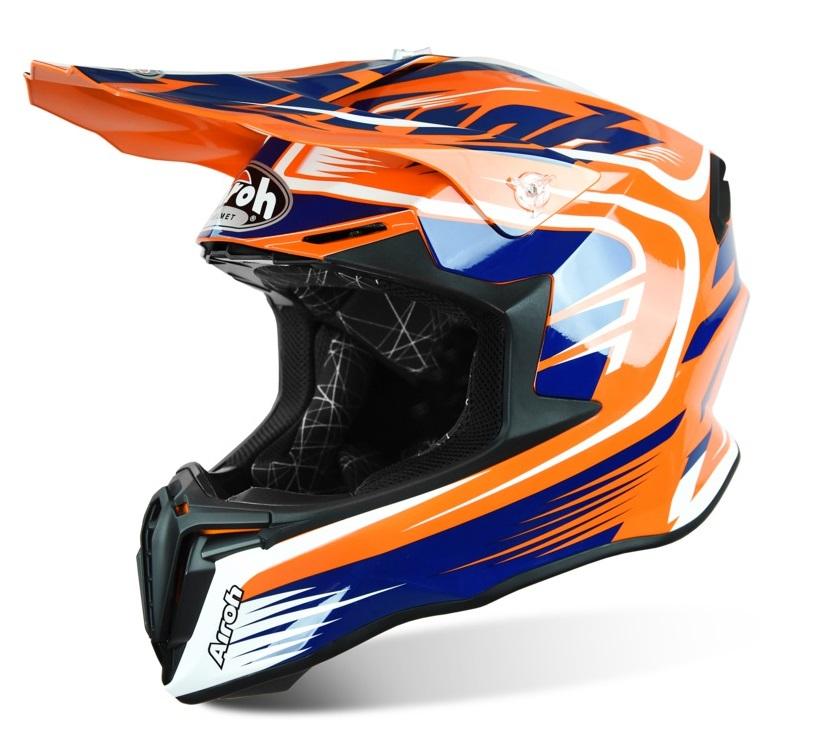 Prilba TWIST MIX, AIROH (oranžová/modrá/biela)