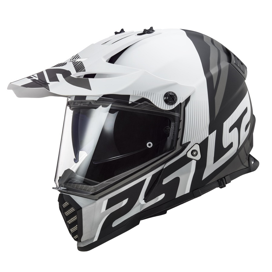 LS2 MX436 PIONEER EVO EVOLVE MATT WHITE BLACK