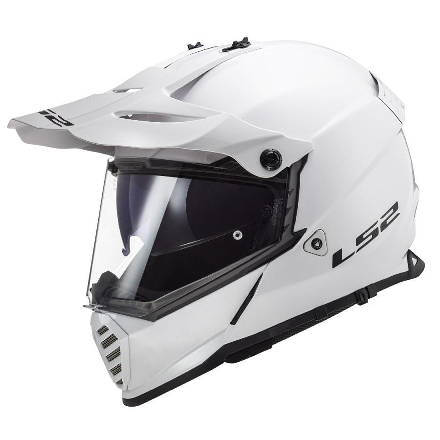 LS2 MX436 PIONEER EVO SOLID WHITE