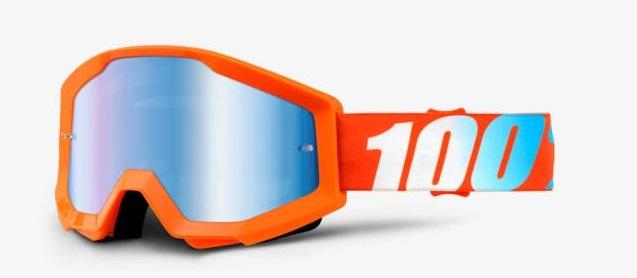 Okuliare STRATA ORANGE, 100% (modré chrom plexi)