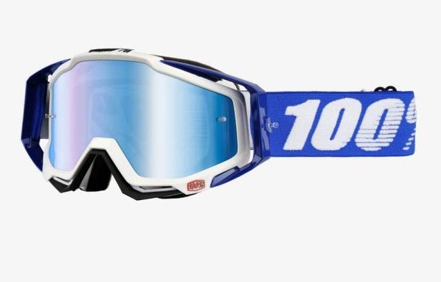 Okuliare RACECRAFT  COBALT BLUE, 100% (modré plexi/číre plexi/chránič nosa/20strhávačiek)