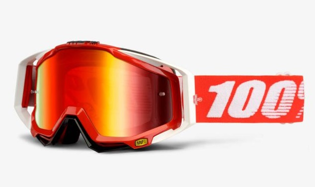 OKULIARE RACECRAFT FIRE RED, 100%