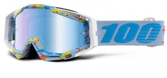 Okuliare RACECRAFT HYPERLOOP, 100% (modré plexi/číre plexi/chránič nosa/20strhávačiek)