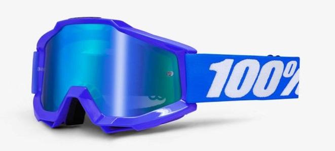 Okuliare ACCURI REFLEX BLUE, 100% (modré chrom plexi/číre plexi)