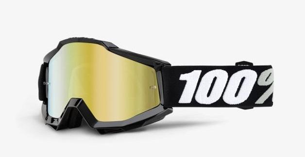 Okuliare ACCURI TORNADO, 100% (zlaté chrom plexi/číre plexi)