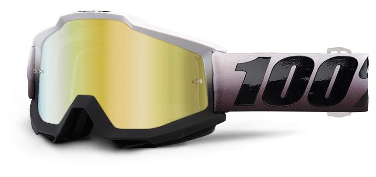 Okuliare ACCURI  INVADERS, 100% (zlaté chrom plexi/číre plexi)