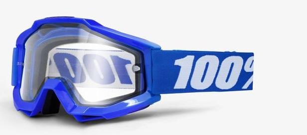 Okuliare ACCURI ENDURO REFLEX BLUE, 100% (číre dual plexi)