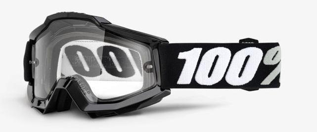 Okuliare ACCURI ENDURO TORNADO, 100% (číre dual plexi)