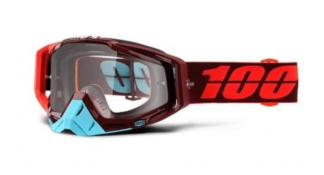 Okuliare RACECRAFT KIKASS, 100% (číre plexi/chránič nosa/10 strhávačiek)