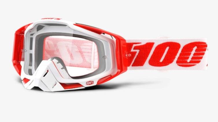 Okuliare RACECRAFT BILAL, 100% (číre plexi/chránič nosa/10 strhávačiek)