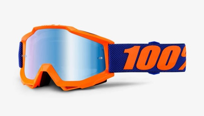 Okuliare ACCURI ORIGAMI, 100% (modré chrom plexi/číre plexi)