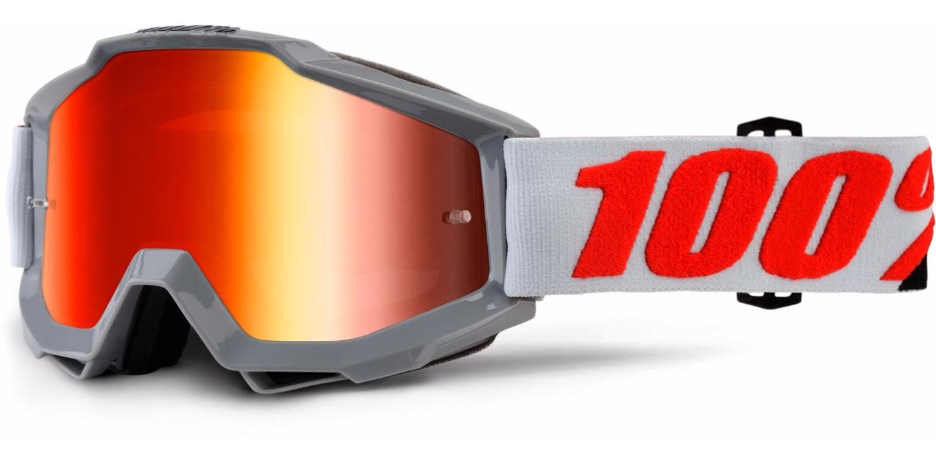 Okuliare ACCURI SOLBERG, 100% (červené chrom plexi/číre plexi)