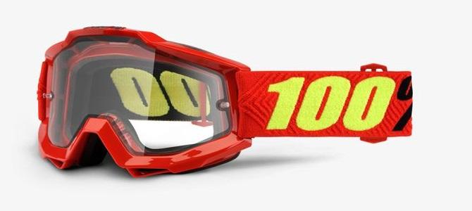 Okuliare ACCURI ENDURO SAARINEN, 100% (dymové dual plexi)