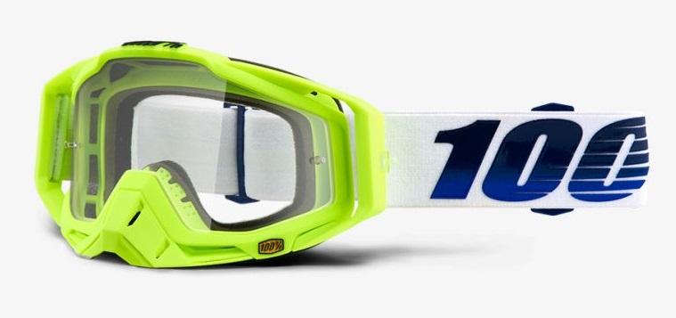 Okuliare RACECRAFT GP21, 100% (číre plexi /chránič nosa /20 strhávačiek)