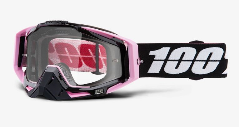 Okuliare RACECRAFT FLOYD, 100% (číre plexi /chránič nosa /20 strhávačiek)