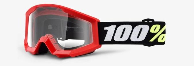 Okuliare  STRATA MINI GRON RED, 100% (číre plexi)