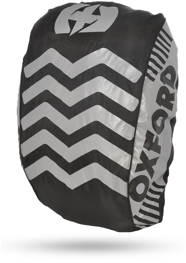 Reflexná pláštenka na batoh BRIGHT COVER, OXFORD (čierna/reflexné prvky , Š X V = 640 X 720 MM)