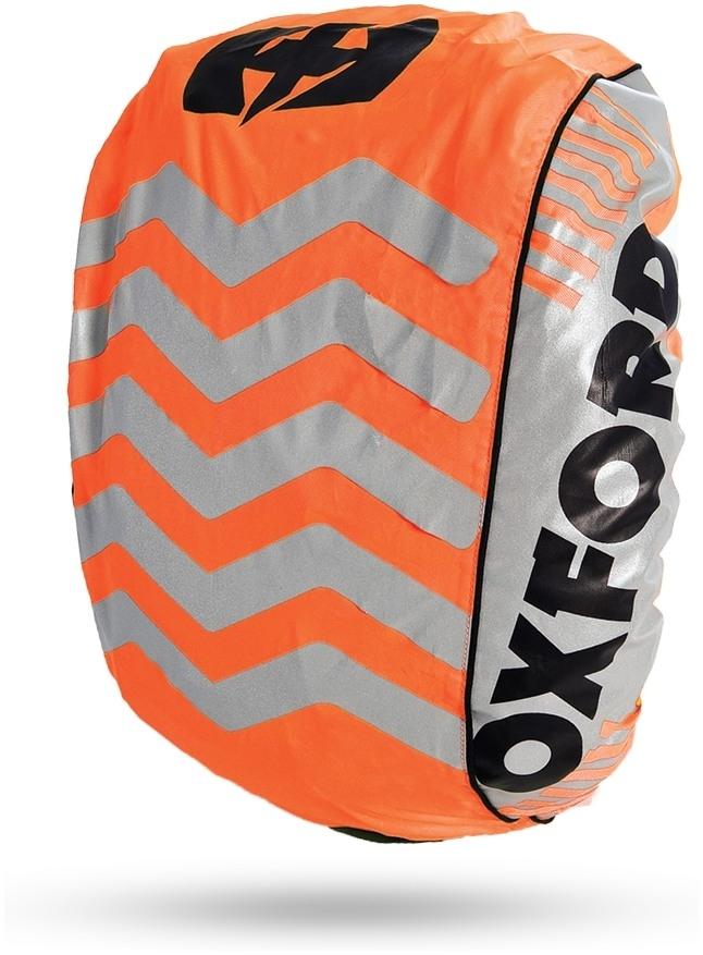 Reflexná pláštenka na batoh BRIGHT COVER, OXFORD (oranžová/reflexné prvky , Š X V = 640 X 720 MM)