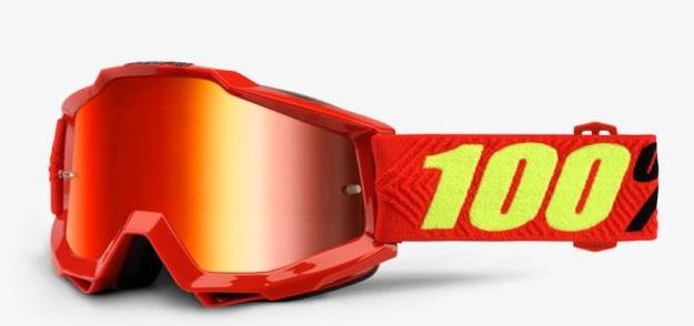 Okuliare ACCURI SAARINEN, 100% (červené chrom plexi/číre plexi)