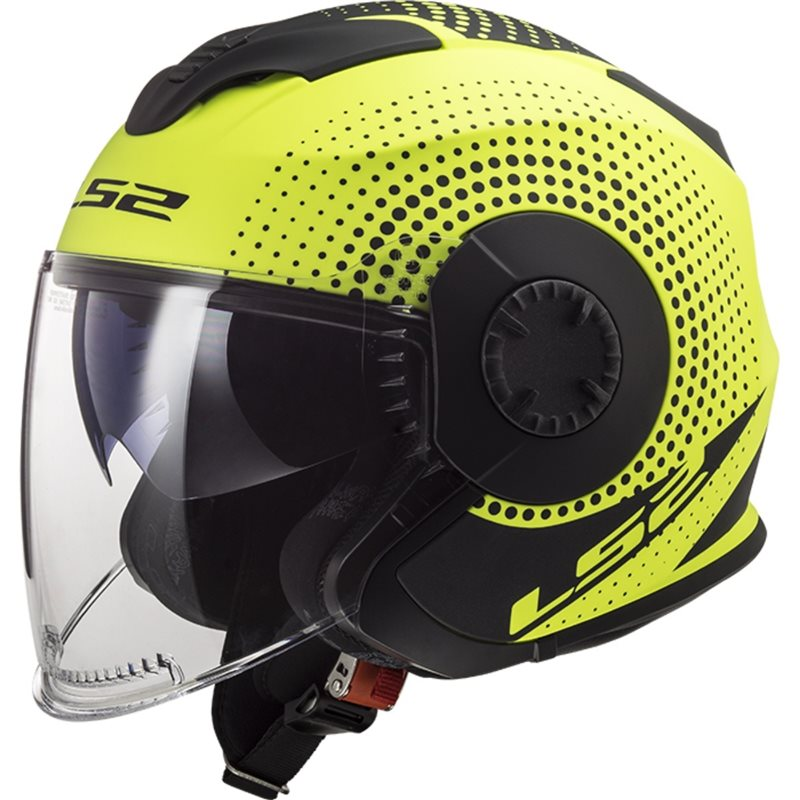 LS2 OF570 VERSO SPIN MATT HI VIS YELLOW