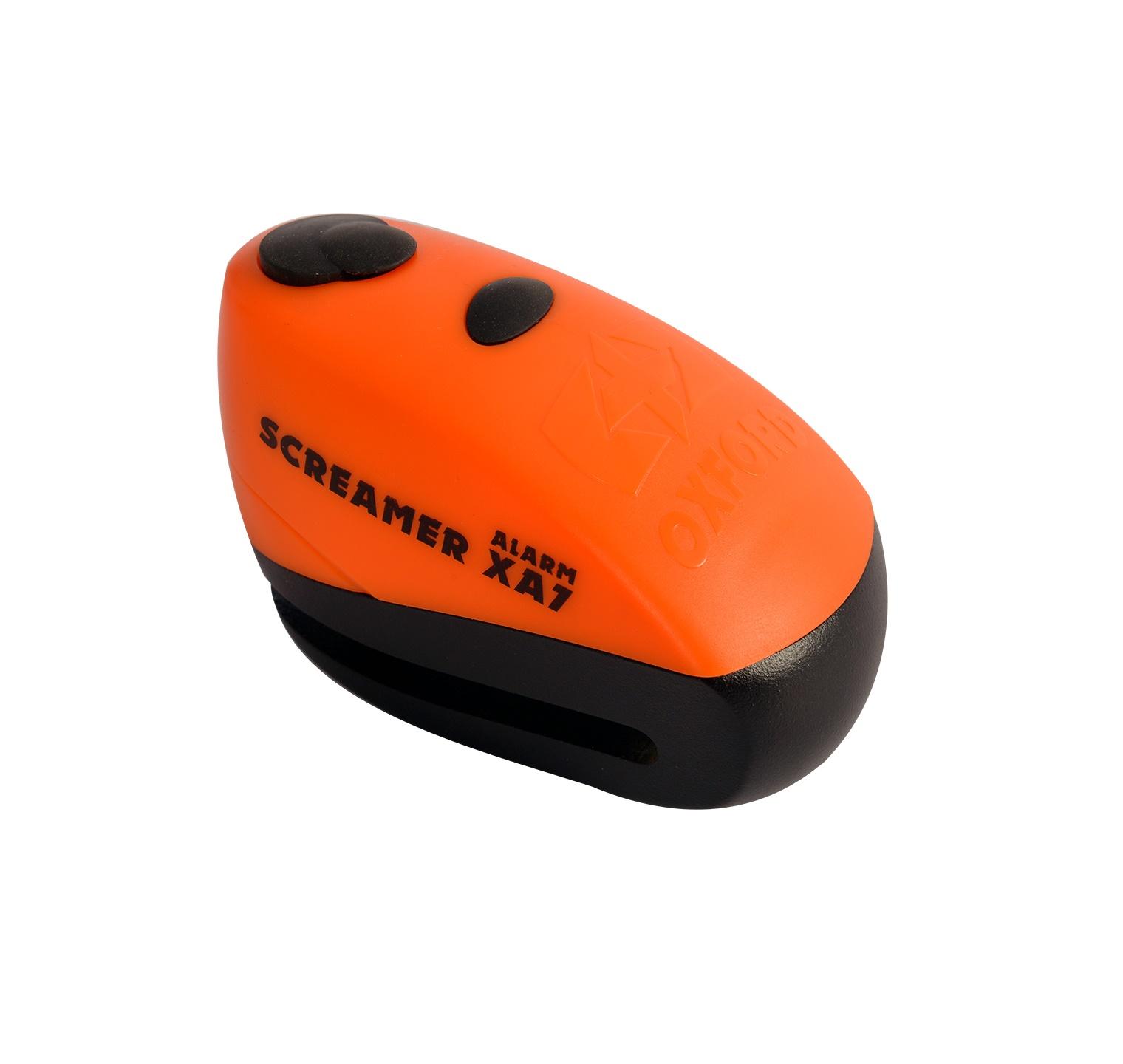 ZÁMOK KOTÚČOVÉ BRZDY SCREAMER XA7, OXFORD (oranžový/čierny)