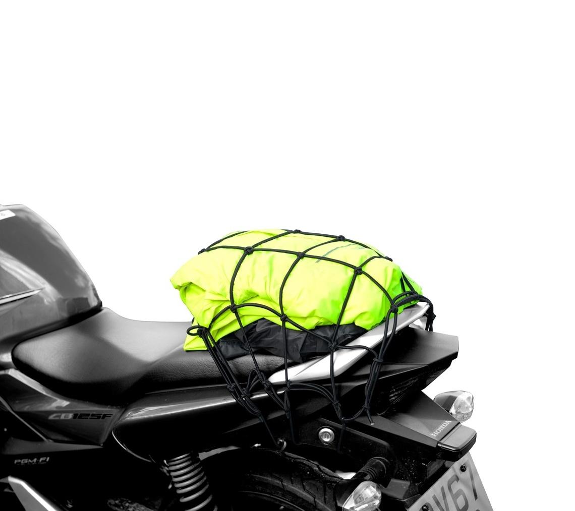 PRUŽNÁ BATOŽINOVÁ SIEŤ XL PRE MOTOCYKLE, OXFORD - (38 X38 CM, ČIERNA)