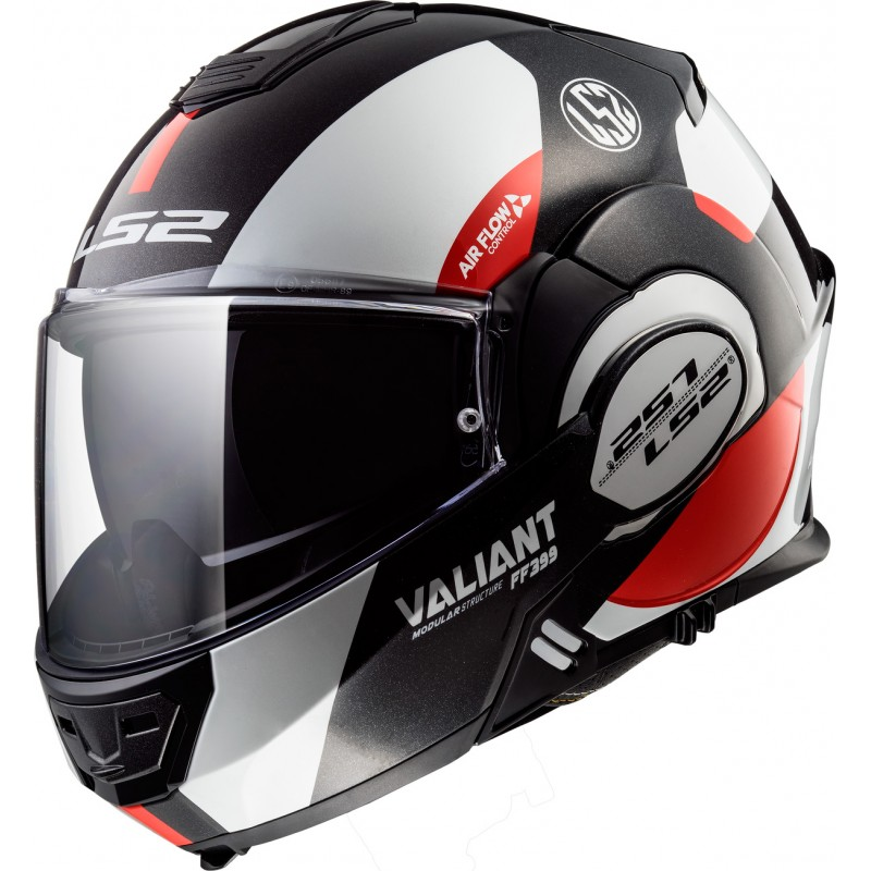 Prilba  VALIANT AVANT , LS2 ( biela/čierna/červená )
