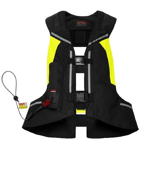 Vesta s airbagom FULL DPS VEST SL celotelová, SPIDI  (čierna/žltá fluo, verzia bez chrbtovej vložky)